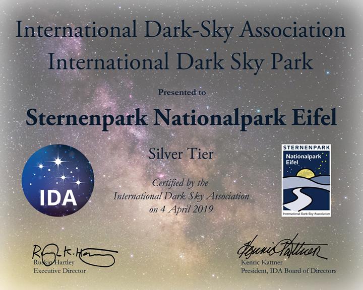Nationalpark Eifel Karte.Astronomie Werkstatt Sterne Ohne Grenzen Sternenpark